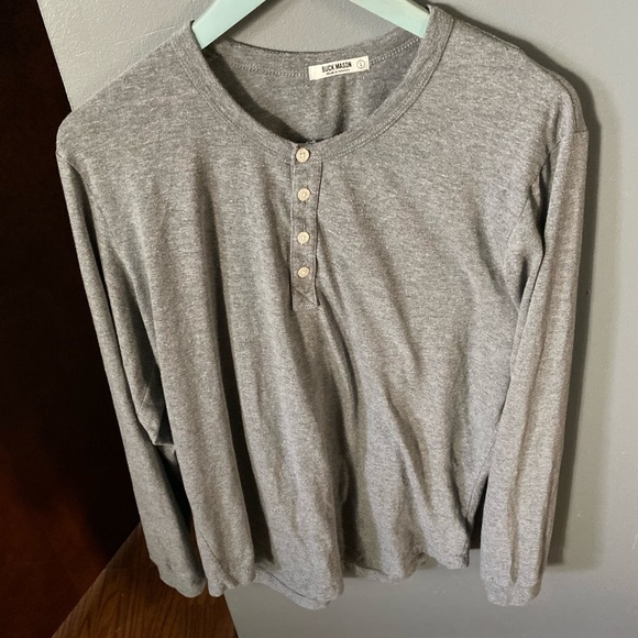 buck mason Other - Buck mason long sleeve Henley grey
